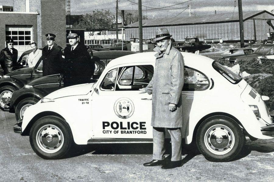Brantford Police Department's new 1972 Volkswagen Beetles