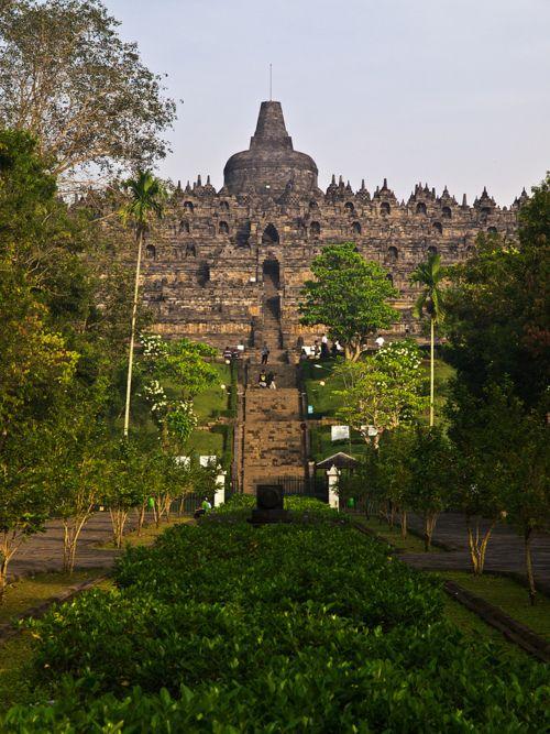 Borobudur, 9th-century Buddhist Temple - Yogyakarta, Central Java, Indonesia.