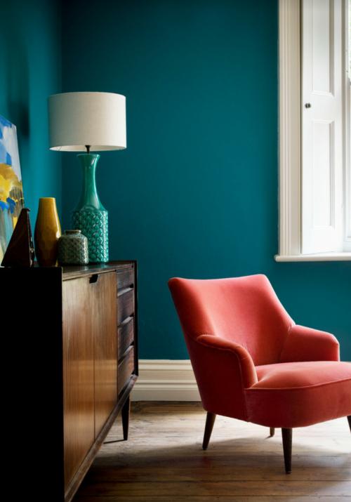 Mobili Verde Acqua Colore Pareti.Mobili E Pareti Arredo Vintage Teal Living Rooms Teal