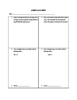 Dividing Using an Area Model With Larger Divisors Students are ...