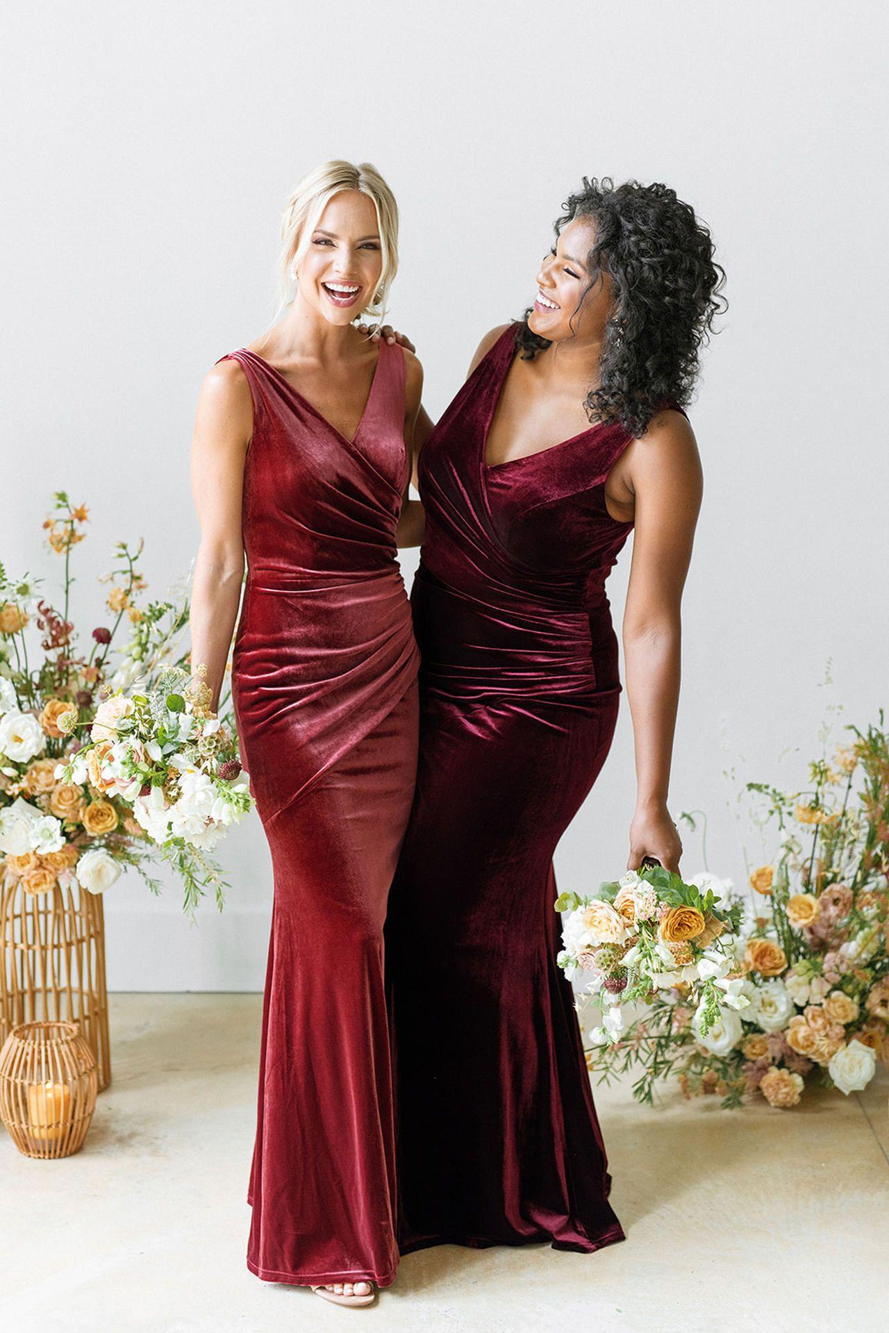Dawson Velvet Dress Velvet Bridesmaid Dresses Bridesmaid Dresses With Sleeves Blush Bridesmaid Dresses [ 1919 x 1280 Pixel ]