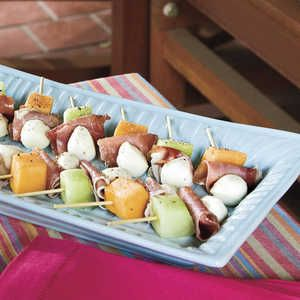 Easiest finger foods ever easy finger food finger foods and easy 65 easiest finger foods ever melon mozzarella and prosciutto skewers myrecipes forumfinder Choice Image