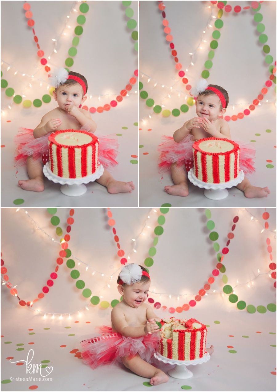Christmas Themed 1st Birthday Party.Holiday Themed Cake Smash Session Christmas Themed 1st Birthday