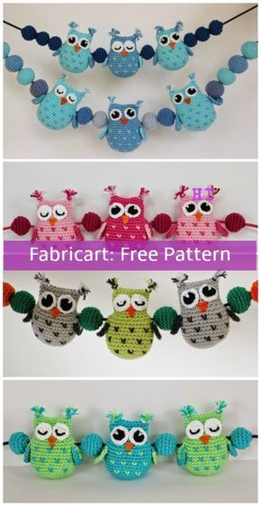 Crochet Heart Stitch Owl Amigurumi Free Patterns #knittingpatternstoys
