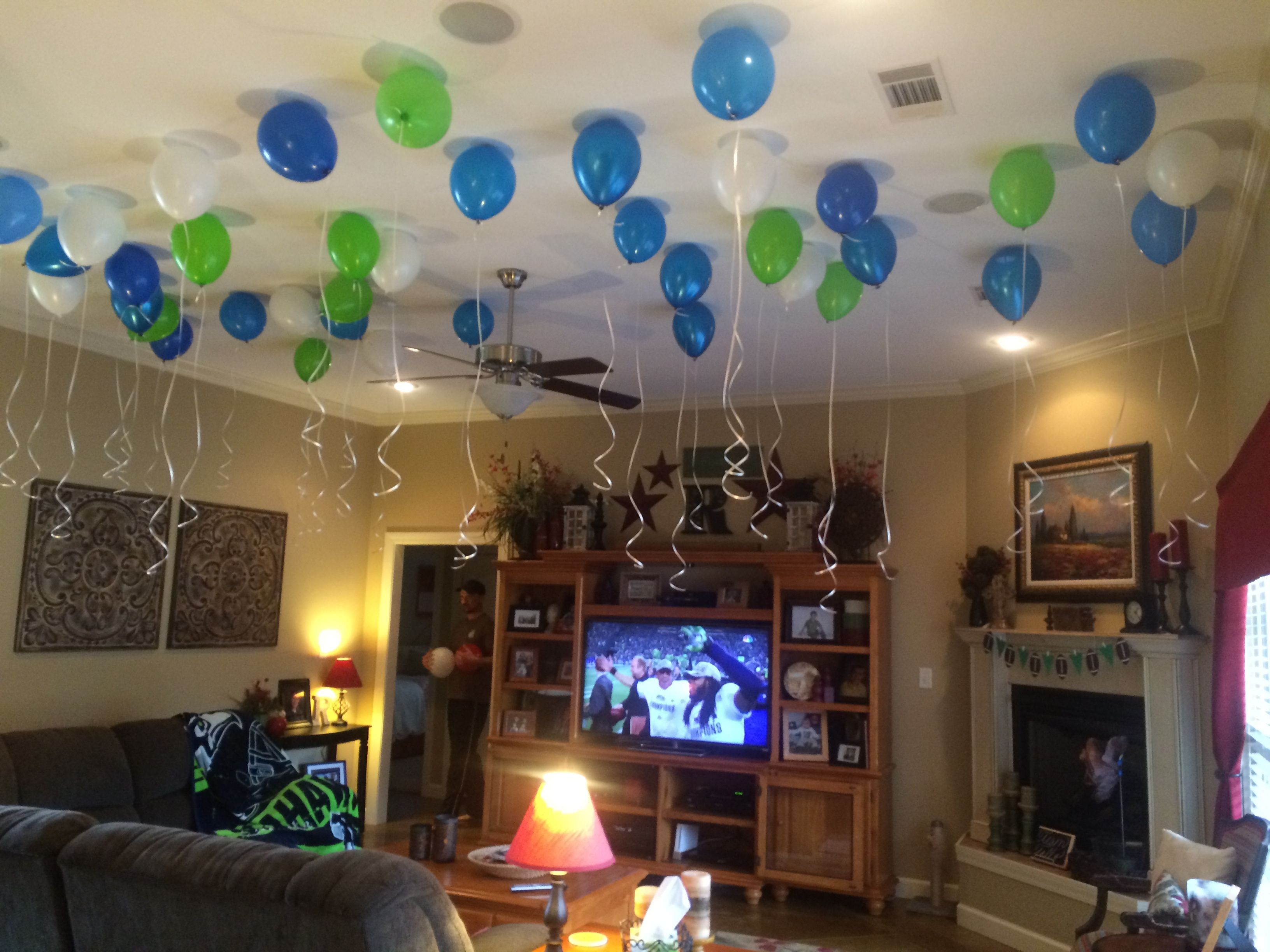 Football Party Not Just A Man S Game Easy Peasy Pleasy Birthday Room Decorations 40th Birthday Party Decorations House Party Decorations