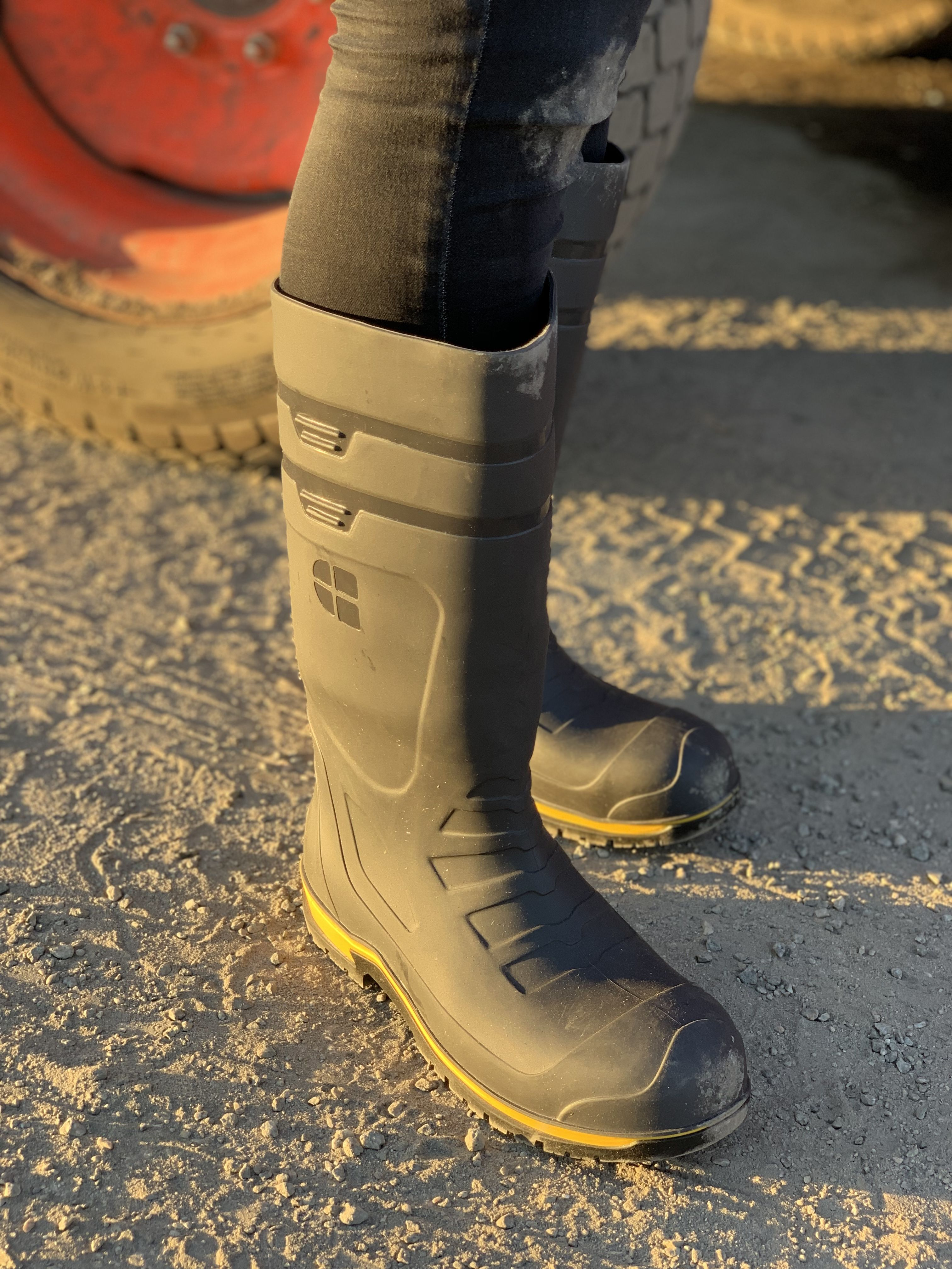 39e5f467492 Torque Pro - Steel Toe - Gray / Yellow | Work Boots in 2019 ...