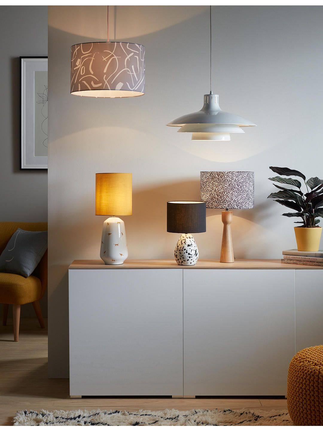 House By John Lewis Stockholm Easy To Fit Ceiling Shade Co