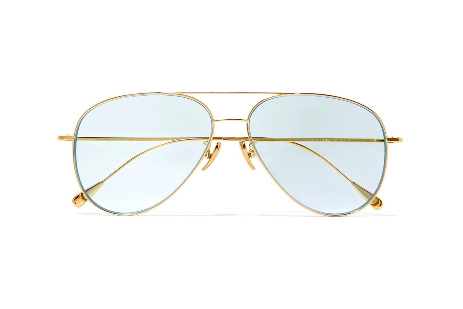 "Aviator-style gold-tone sunglasses, £435 at [link url=""https://www.net-a-porter.com/gb/en/product/955625/cutler_and_gross/aviator-style-gold-tone-sunglasses""]Net-a-porter.com[/link]."