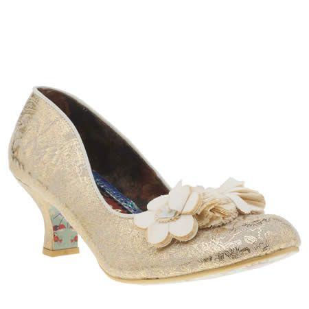 womens irregular choice stone florazzle floral low heels