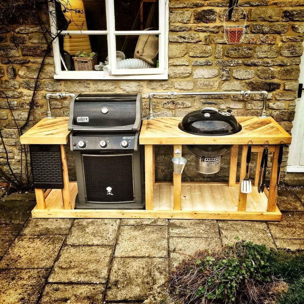 76 Best Outdoor Kitchen And Grill Ideas For Summer Backyard Barbeque Diy Outdoor Kitchen Outdoor Kitchen Outdoor Grill Area