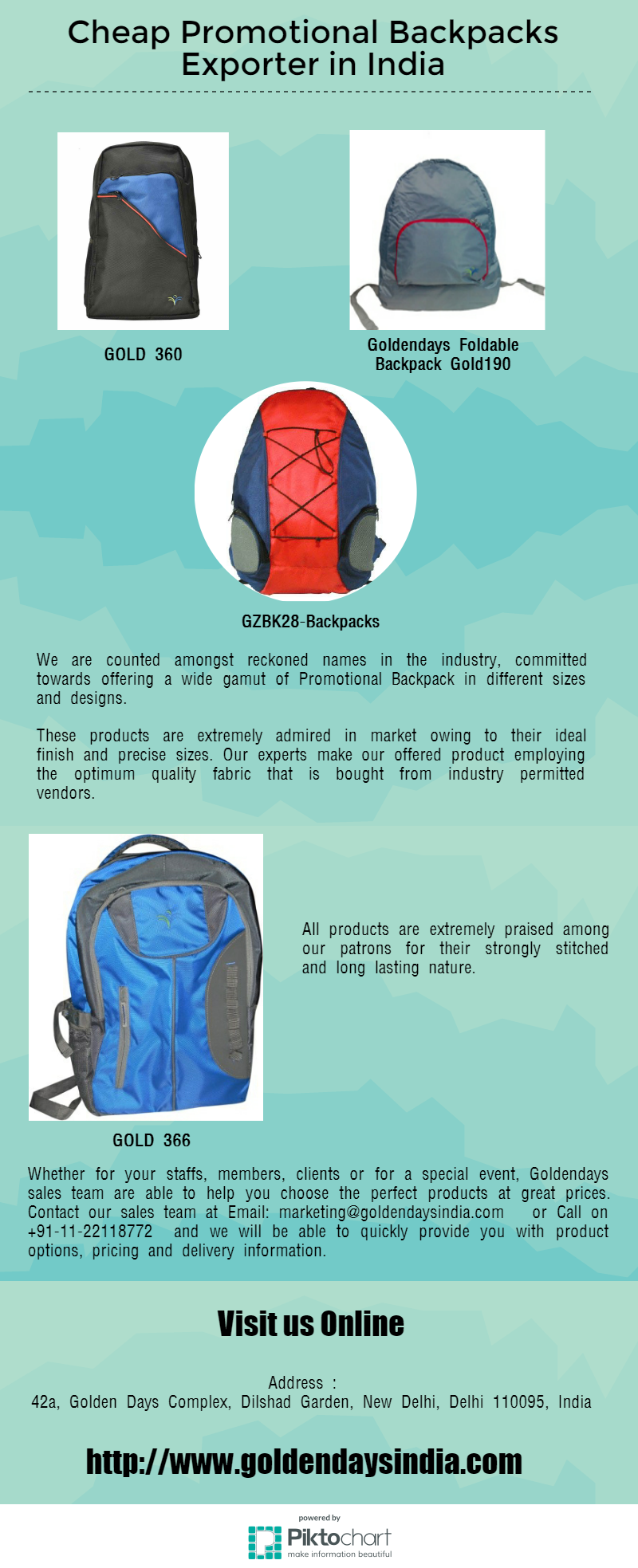 f70599469e63 We are manufacturing Engraved and personalised cheap promotional backpacks  for business