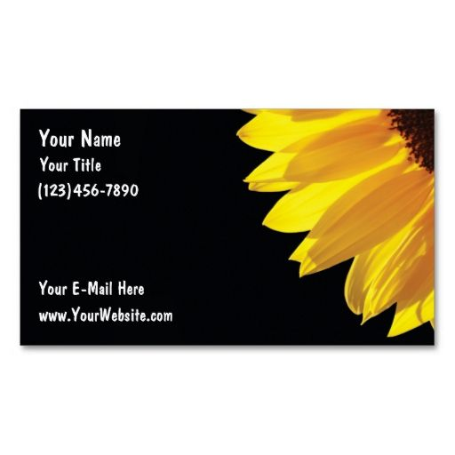 sunflower business cards i love this design it is available for customization or ready to buy as is all you need is to add your business info to this