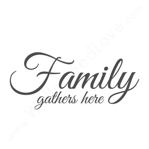 Wall Quotes Wall Decals Family Gathers Here Wall Quotes Family Quotes Best Family Quotes