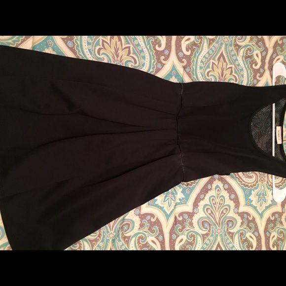 Black skater dress Charlotte Russe size small. Like new. Netted back Charlotte Russe Dresses Mini