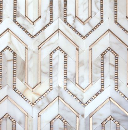Akdo Collections Calacatta Marble With Bronze Amp Pewter