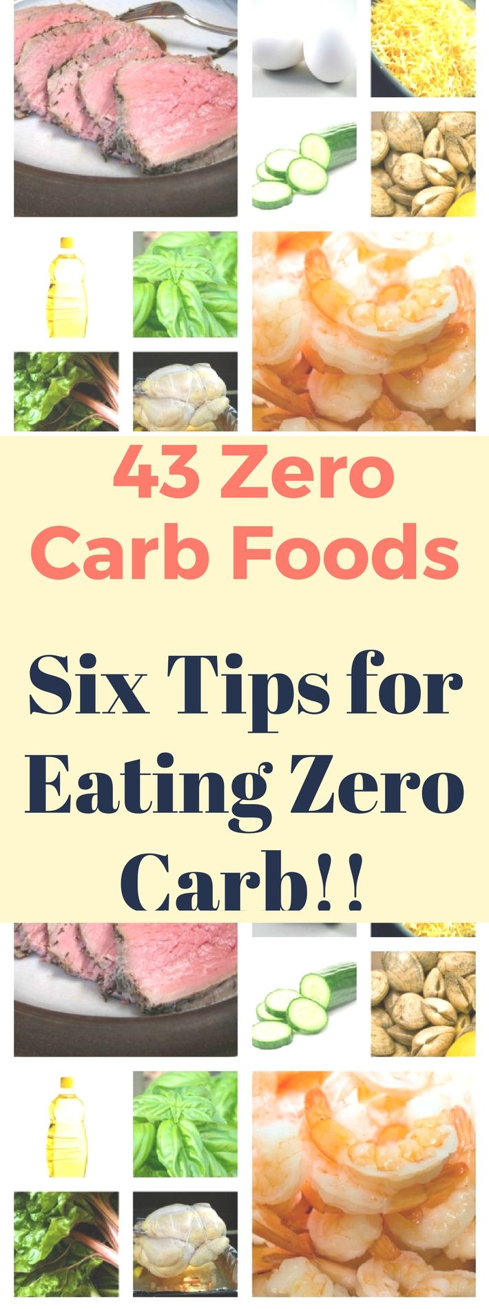43 Zero Carb Foods + Six Tips for Eating Zero Carb! Read this!!
