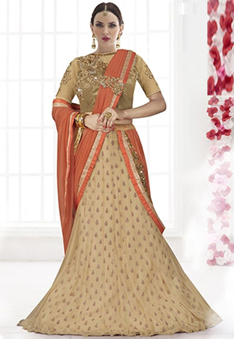 #Peach And #Chickoo #Lycra And #Net #Saree With Blouse  #Peach And #Chickoo #Lycra And #Net One Minute #Saree designed with Heavy Zari,Resham Embroidery With Stone Work And Lace Border.  INR: 6,698 only  With #Amazing #Discounts  Avail At http://tinyurl.com/onvm2xv