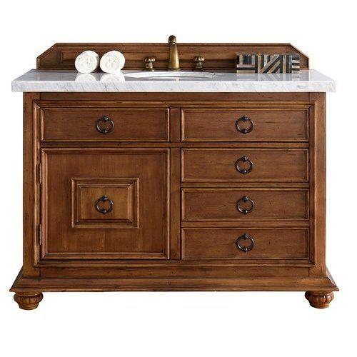 James Martin 48 Mykonos Single Sink Vanity W Marble Top