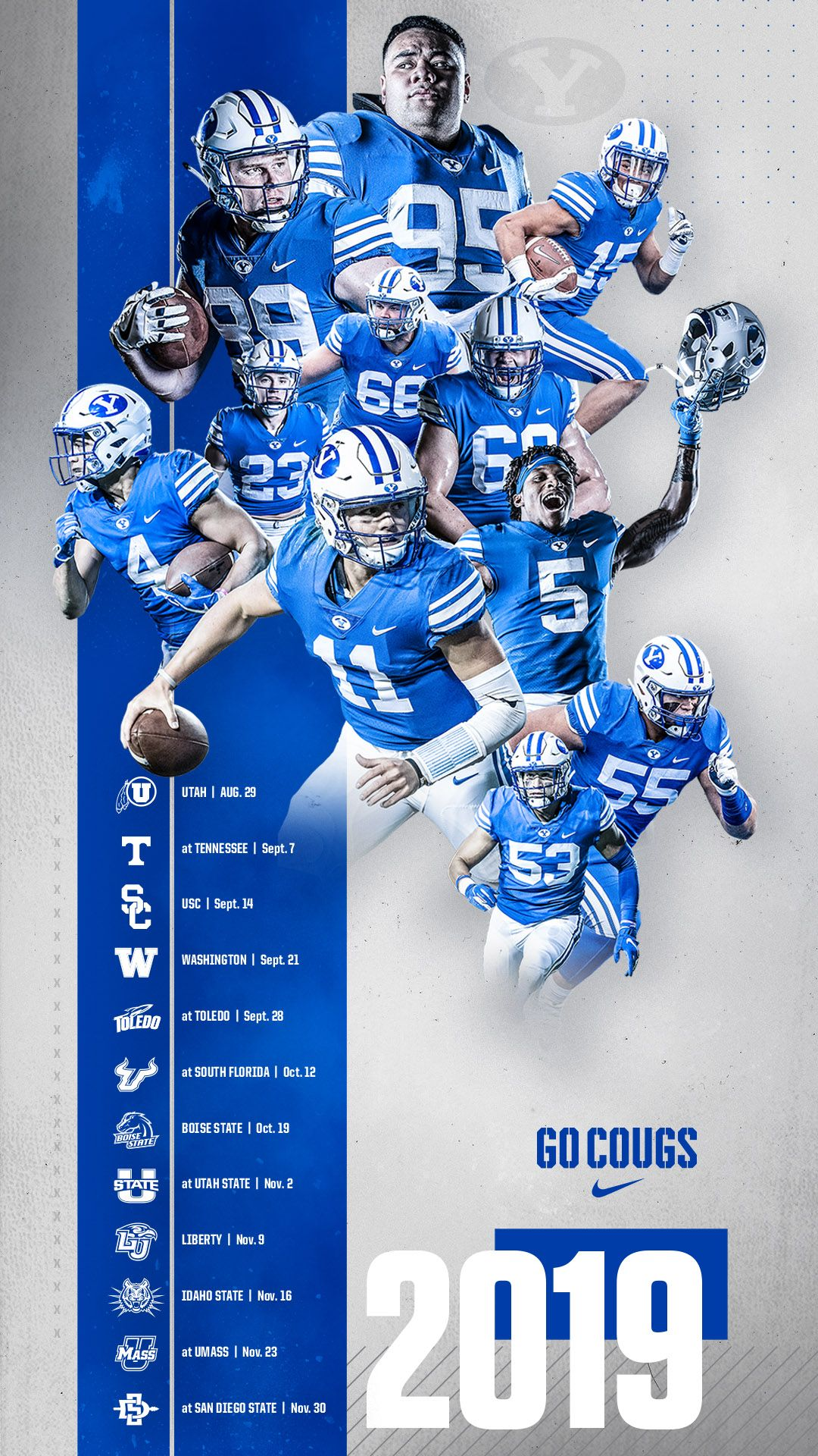 Byu Football Poster 2019 Byu Football Football Poster Sports Graphic Design