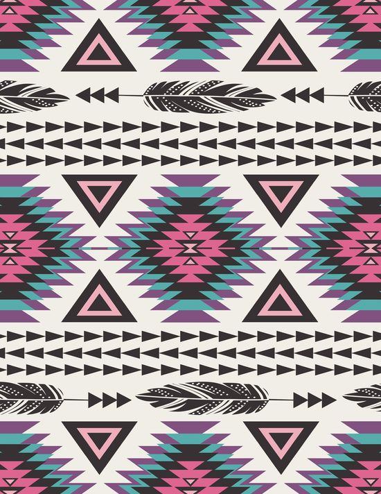 Tribal Spirit Art Print | Aztec wallpaper, Tribal pattern ...