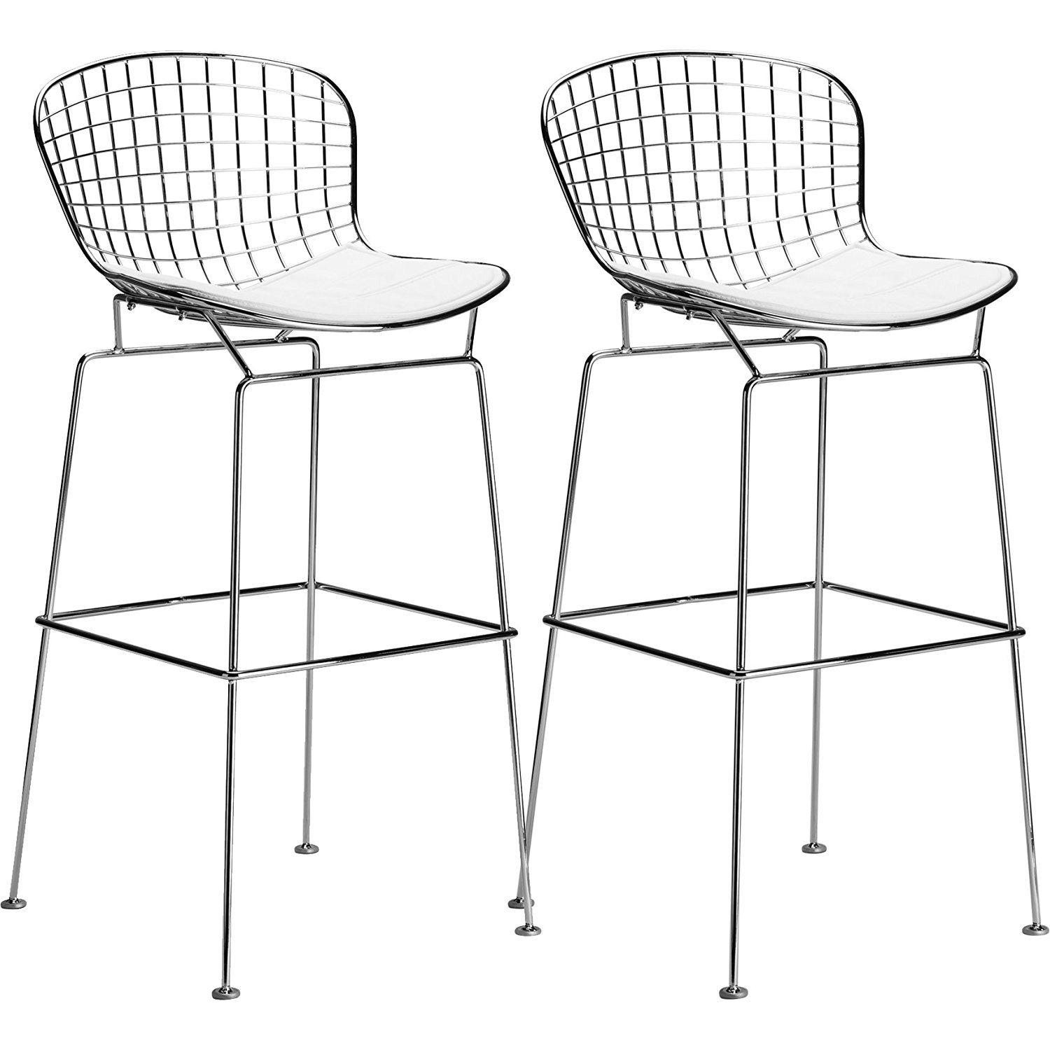 Fine Amazon Com Poly And Bark Bertoia Style Wire Bar Stool In Theyellowbook Wood Chair Design Ideas Theyellowbookinfo