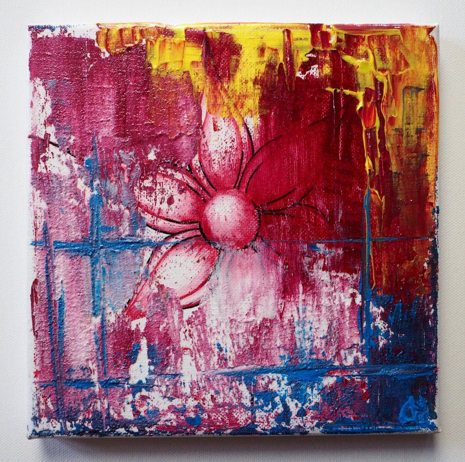 original abstraktes bild blume gemalde 20x20 cm wandbild etsy abstrakte bilder abstrakt moderne kunst berge malerei shop