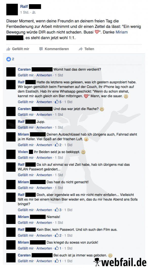Was Sich Liebt Das Neckt Sich Facebook Win Des Tages 07092016