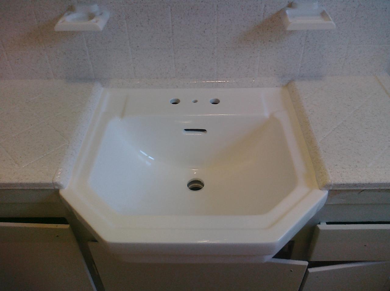 Pkb Reglazing Tile Bathroom Countertop Reglazed Cappucino