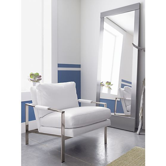 Colby Accent Chair Modern Contemporary Dusk Living Room: Colby Nickel Floor Mirror