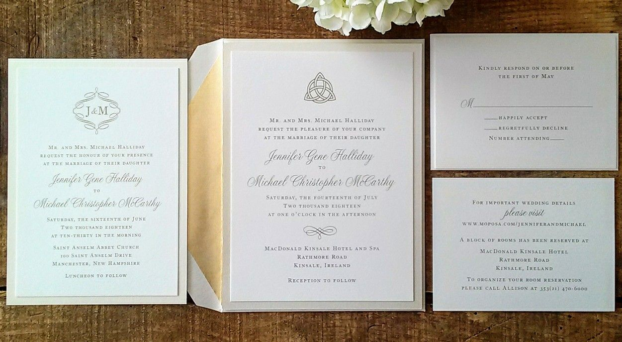 Design By The Write Place Luxury Custom Invitation Suite