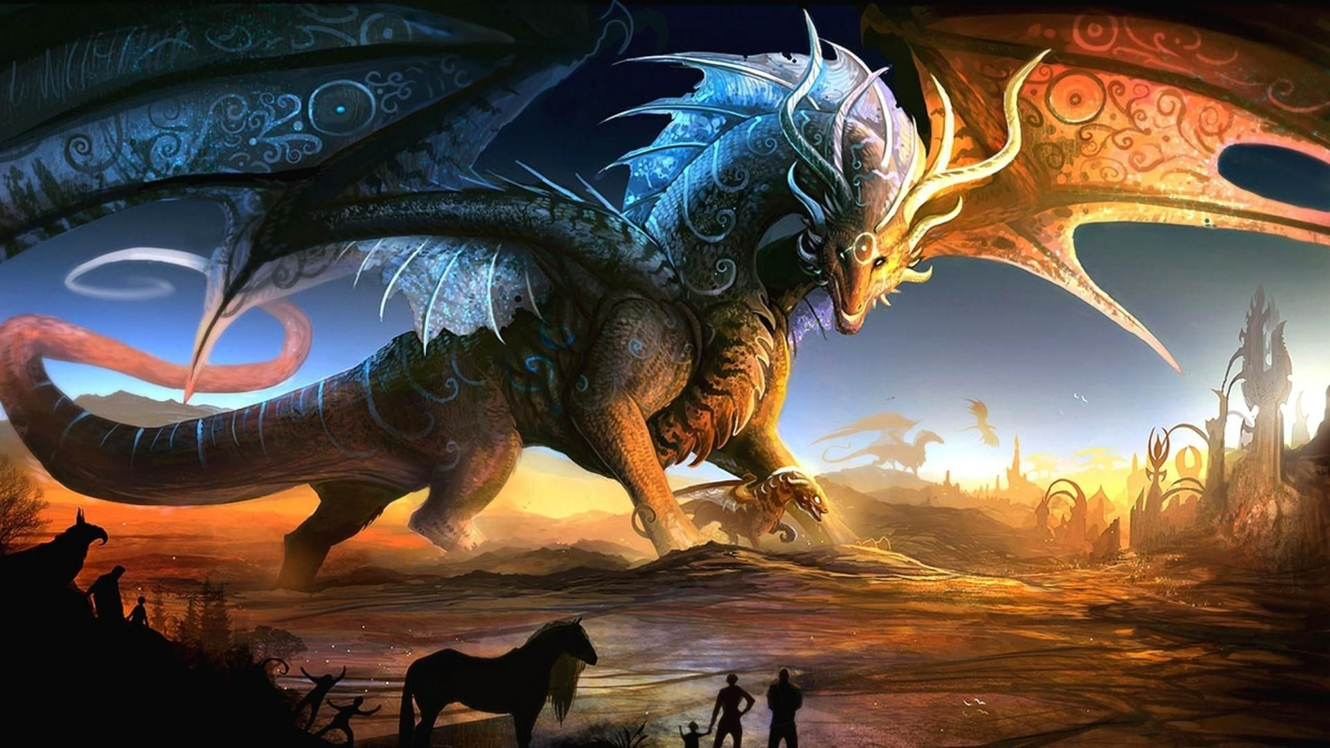 3D Fantasy Dragon [1920x1080] Need #iPhone #6S #Plus