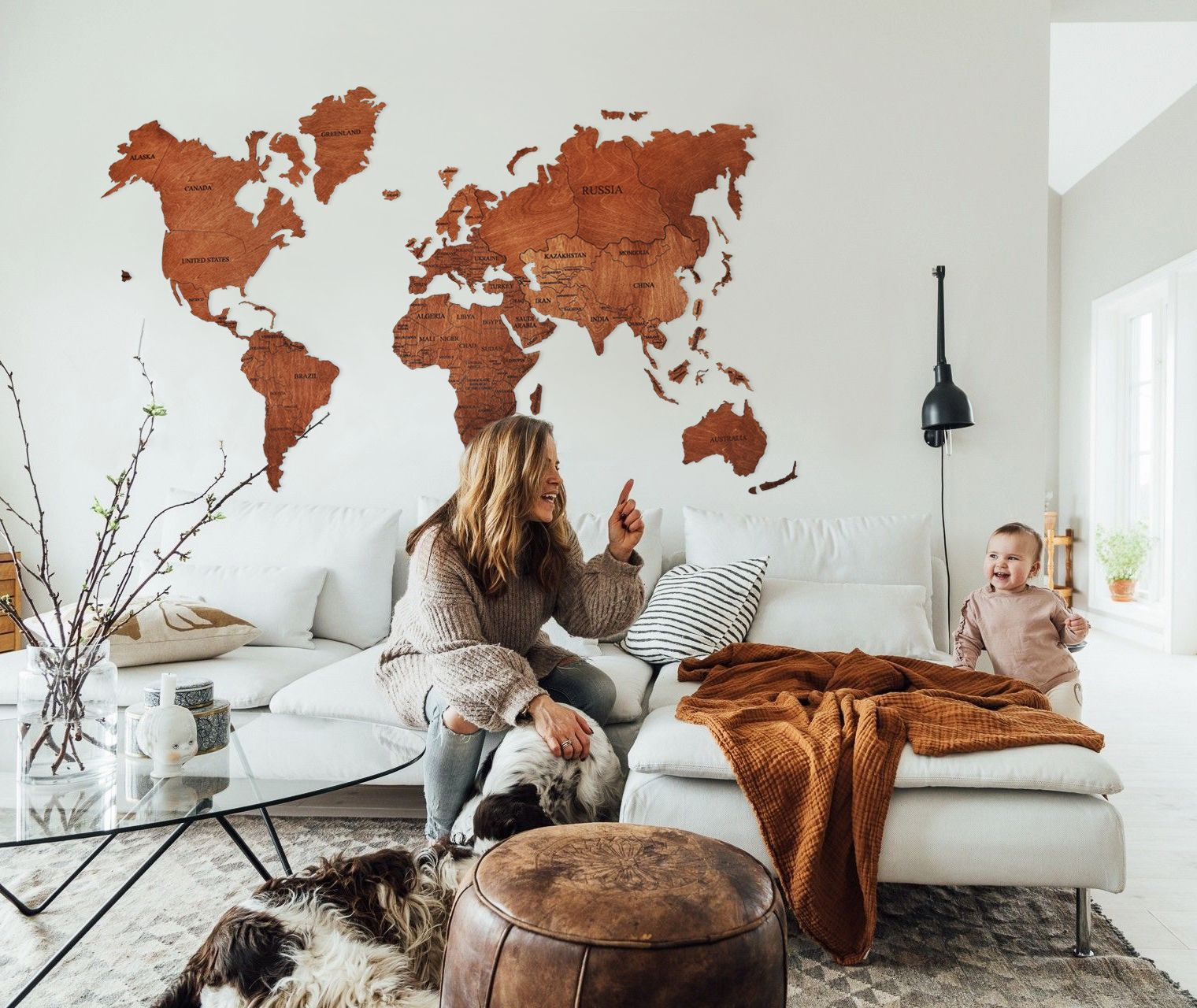 World Map Wall Art Wood Wall Art Rustic Wall Map Wood Map Push Etsy Living Room Decor Rustic Map Decor World Map Decor