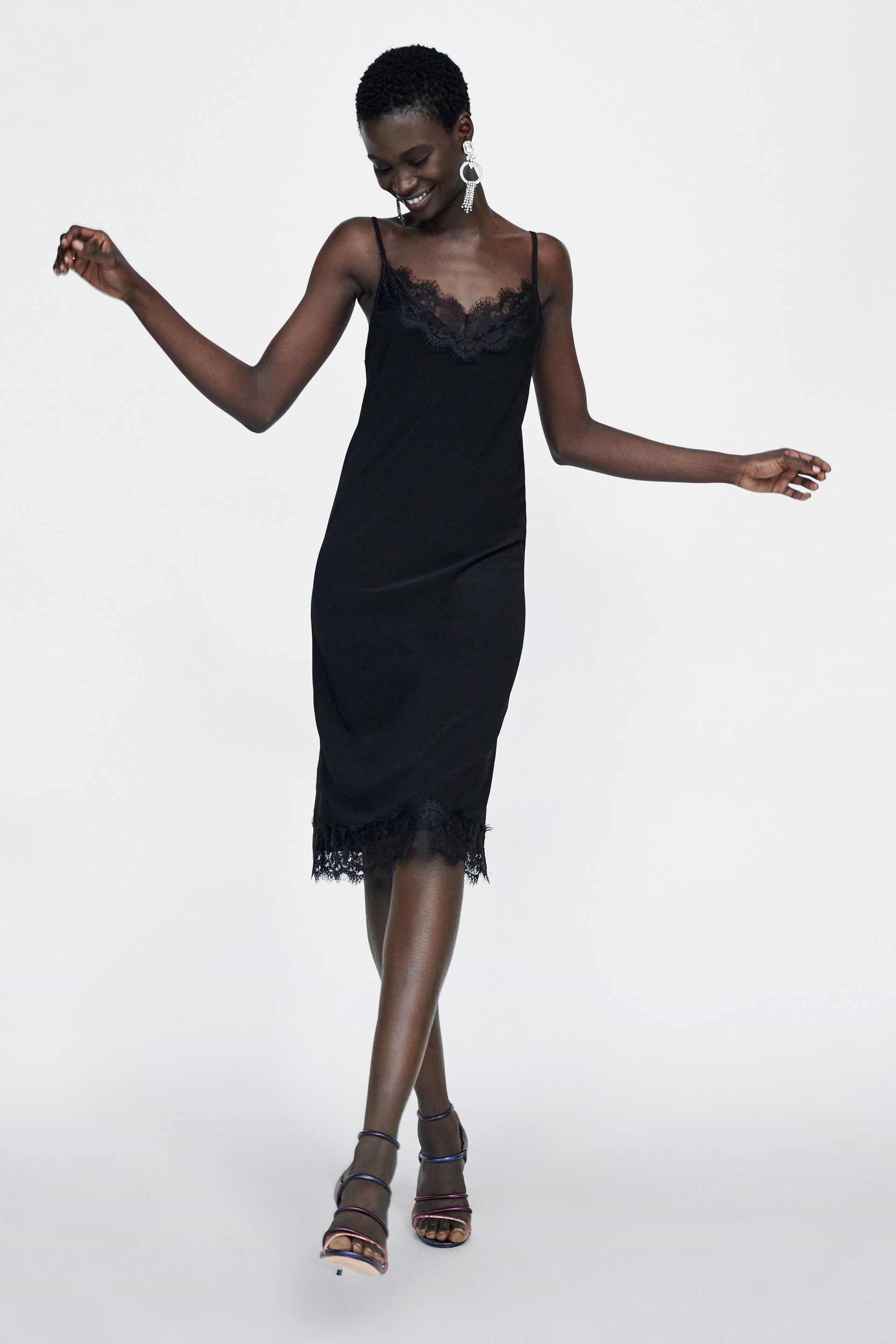 image 1 of camisole dress from zara | kleider damen, slip