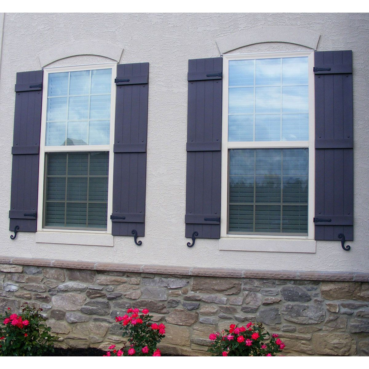 14 Inch Joined Four Board Vinyl Board N Batten Custom Window Shutters W Installation Shutter