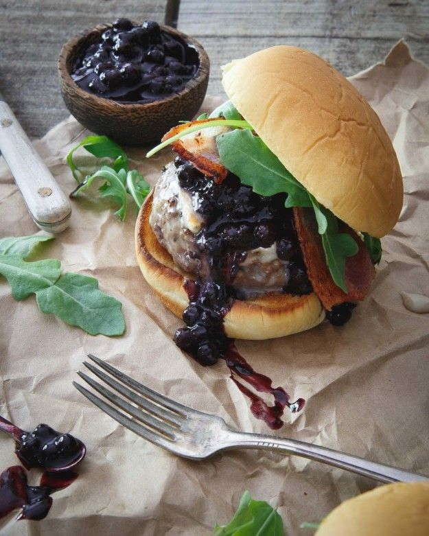 Blueberry BBQ Brie Burger   Community Post: 15 Delicious Burgers That Went Beyond The Call Of Duty