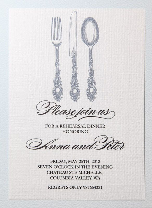 Printable rehearsal dinner invitation Rehearsal dinner - dinner invitation template free