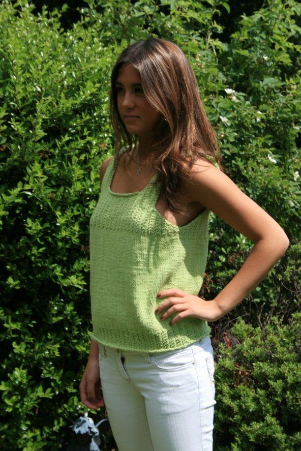 Cygnet Yarns Cotton Summer Top Free Knitting Pattern http://www ...