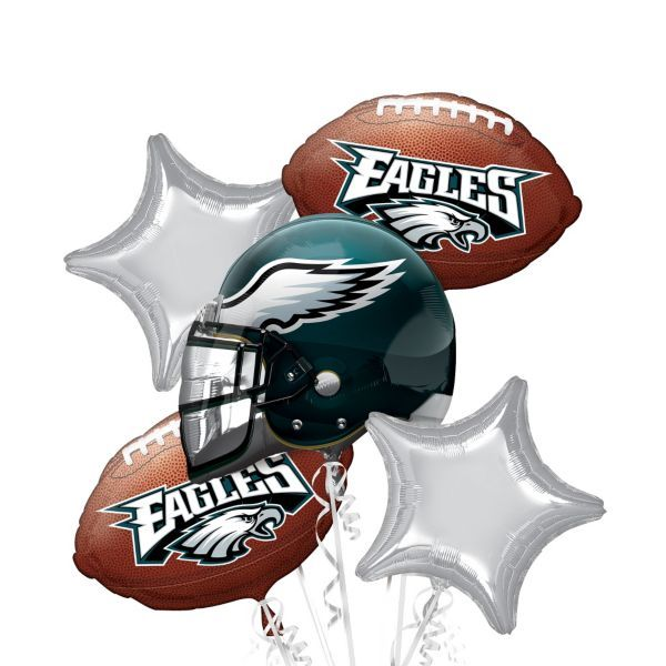 Philadelphia Eagles Balloon Bouquet 5pc Special Occasions