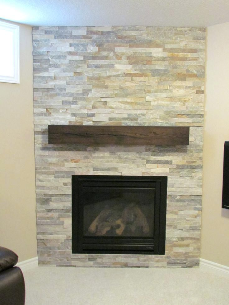 Stacked Stone And Wood Fireplace Download Fireplaces With