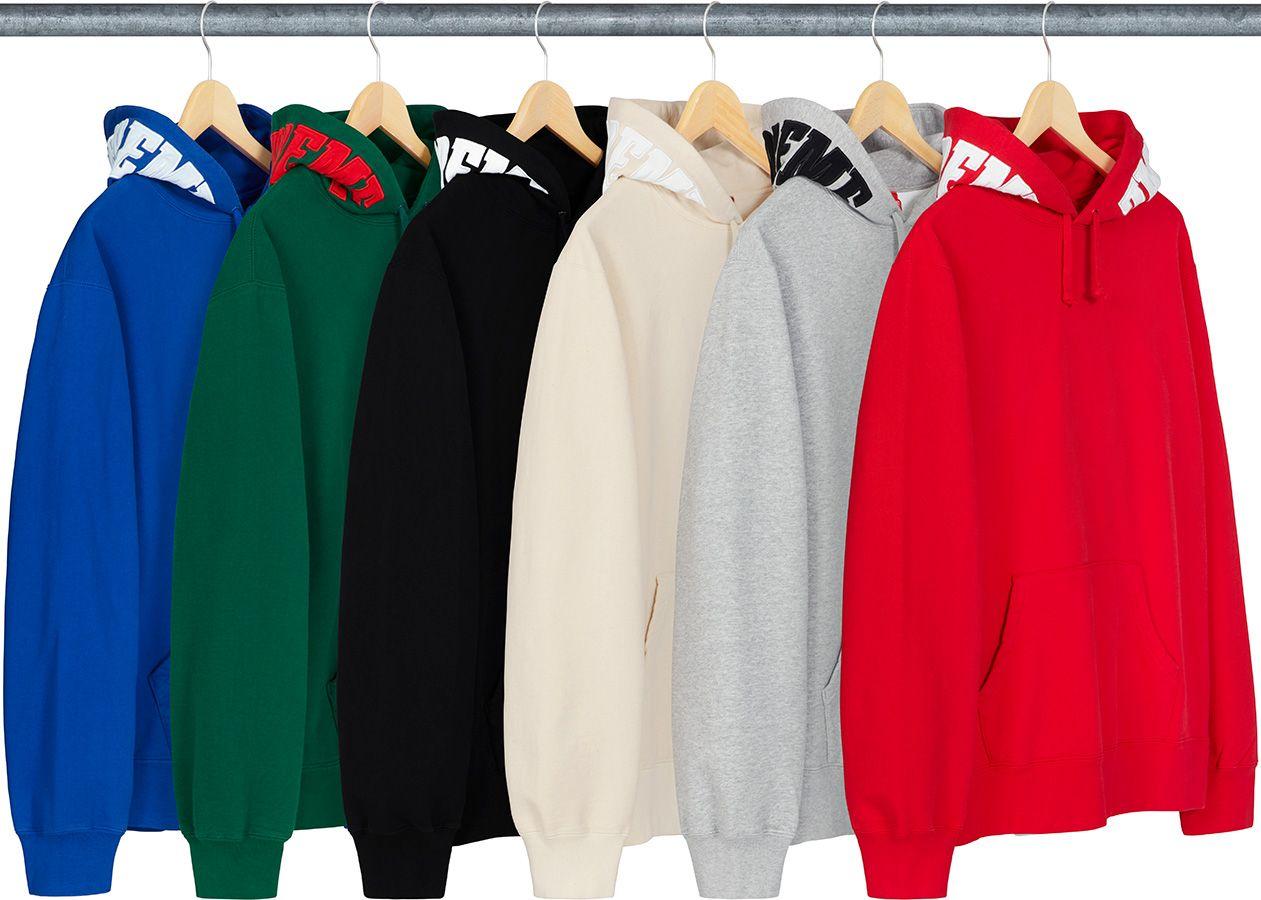 Supreme Mirrored Logo Hooded Sweatshirt Hooded Sweatshirts Sweatshirts Athletic Jacket [ 900 x 1261 Pixel ]