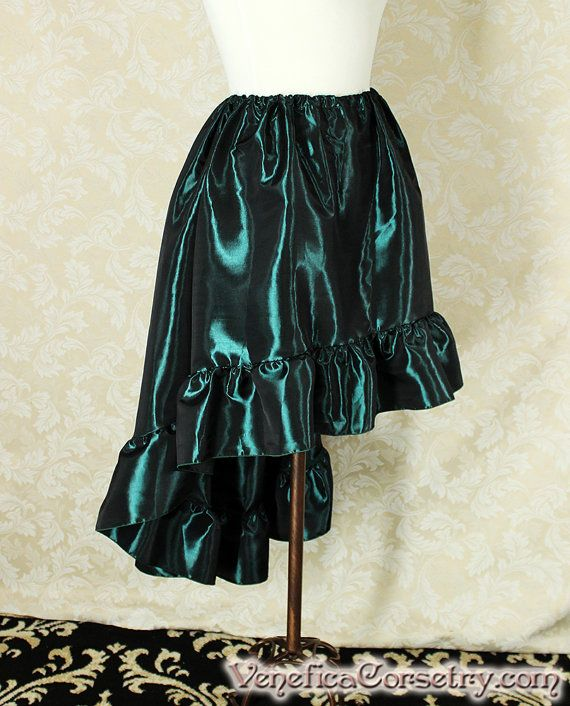 Steampunk High Low Cecilia Skirt Longer Length by VeneficaCorsetry