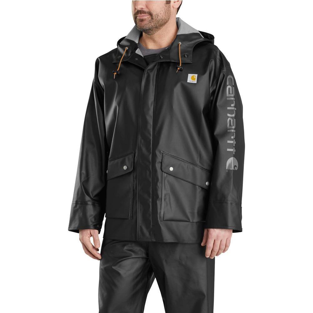 2eef6b33f Carhartt Men's Tall Xx-Large Tall Black Polyethylene/Polyester ...