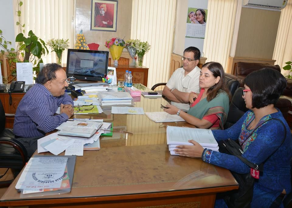 Harsh Vardhan with Smt. Maneka Sanjay Gandhi, Honourable