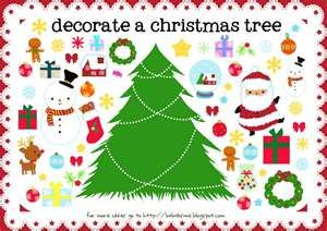 Free printable Christmas tree to print--I think I'll do it on magnet paper for the fridge
