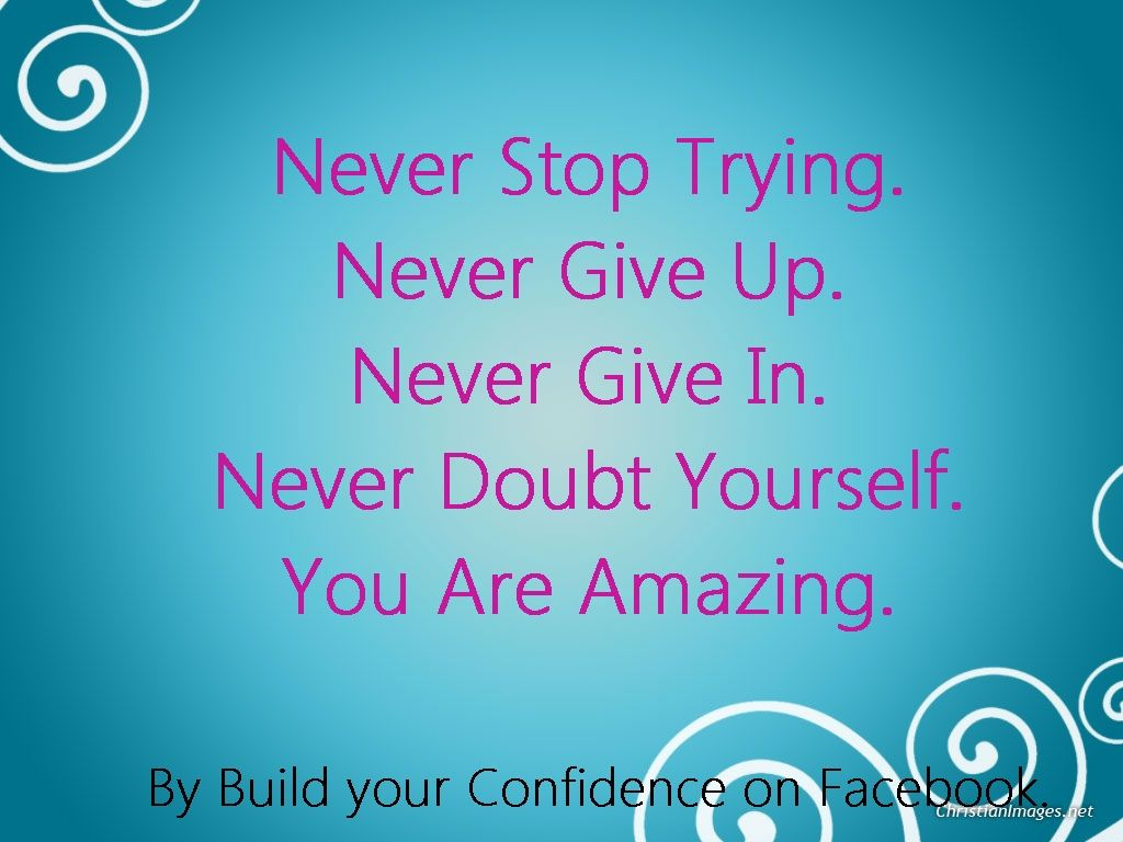 if you want to build your confidence then like me on facebook