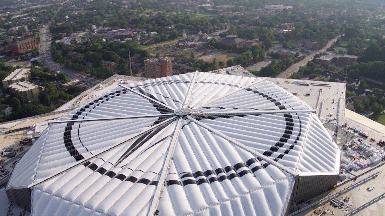 A Kinetic Roof That Opens And Closes In A Motion