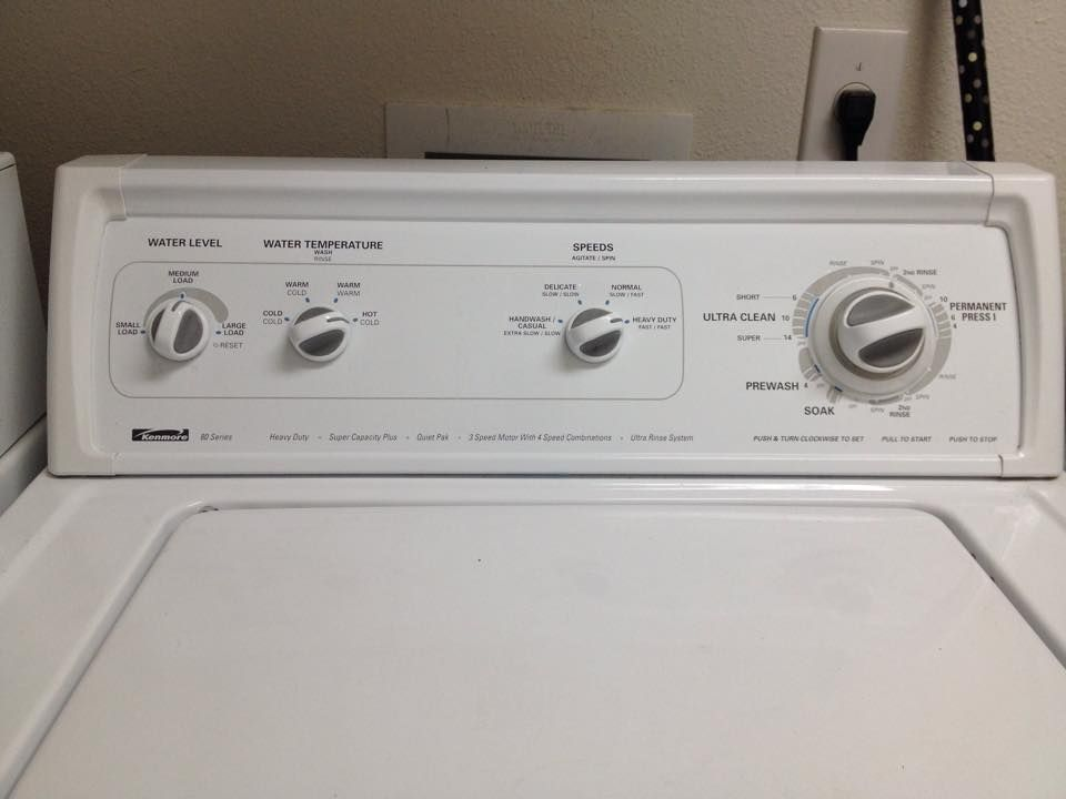 Kenmore 80 Series Prewash Ultra Clean Short Normal Or Heavy Duty Speed Main Wash Ultra Clean Super Heavy Duty