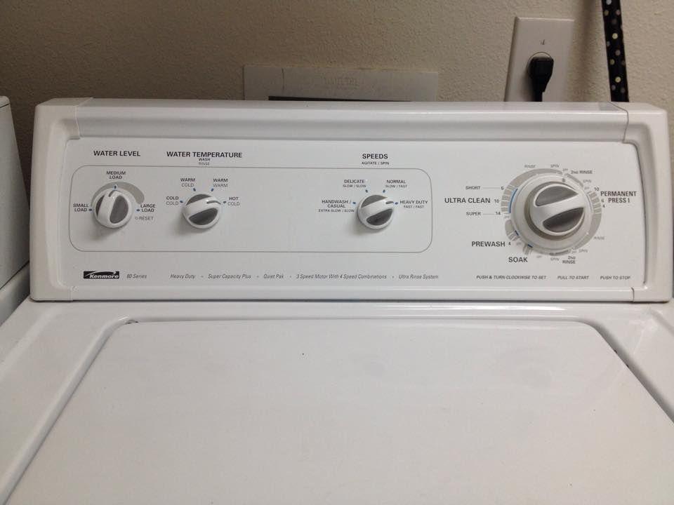 Kenmore 80 Series Prewash Ultra Clean Short Normal Or Heavy Duty Speed Main Wash Ultra Clean Super Heavy Duty