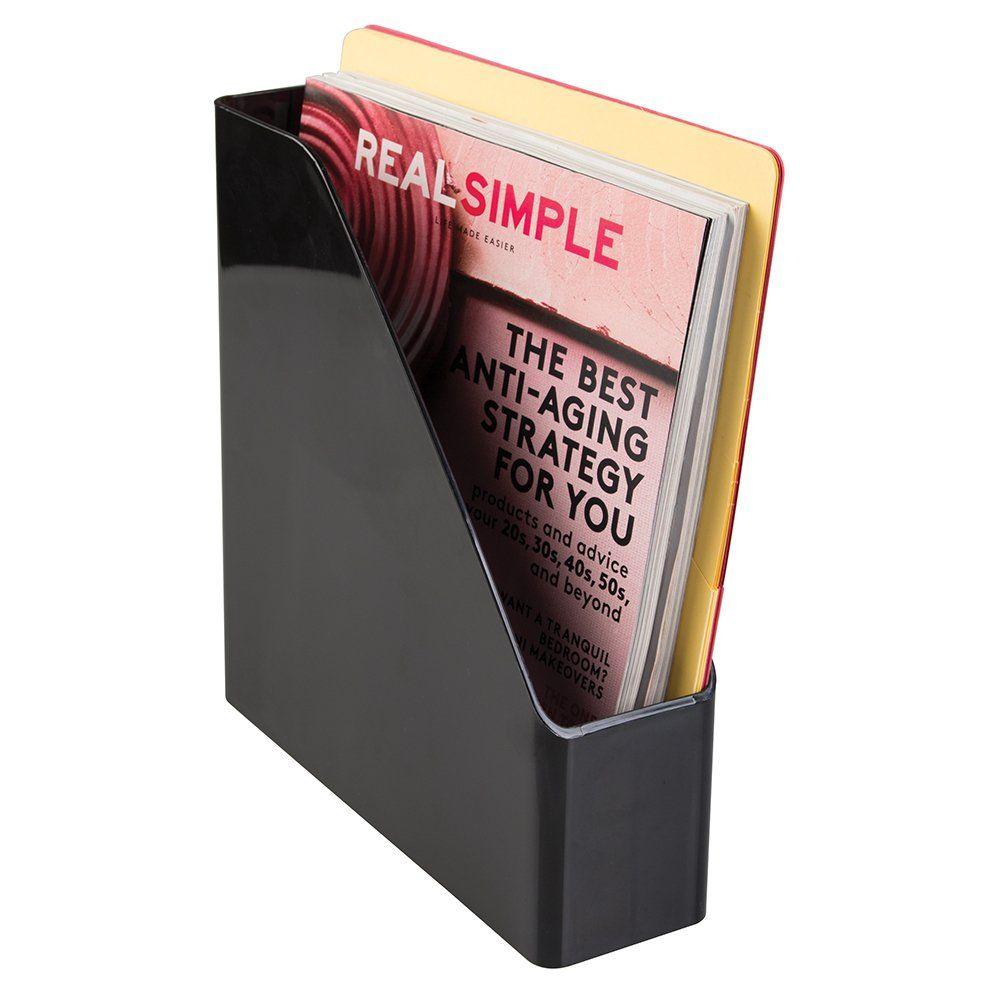 mdesign desk office magazine u0026 file folder organizer black