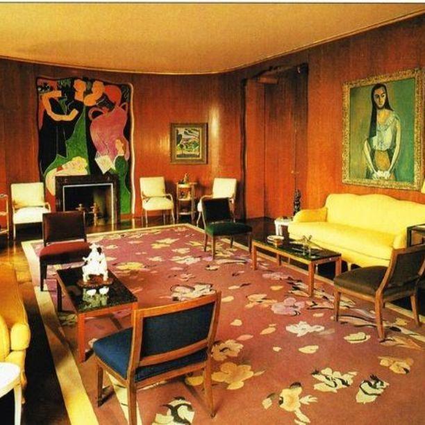 Nelson Rockefeller New York apartment salon designed by JeanMichel
